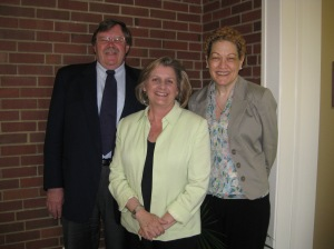 Attached photo: Stuart Hamilton, Robin Gunderson and Abby Leonard